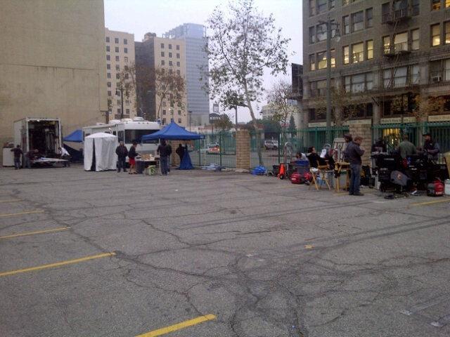 La deuxième journée de tournage débute là ...