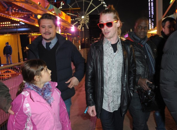 Macaulay Culkin à la soirée d'inauguration de la Foire du Trône de Paris le 29 ars 2013