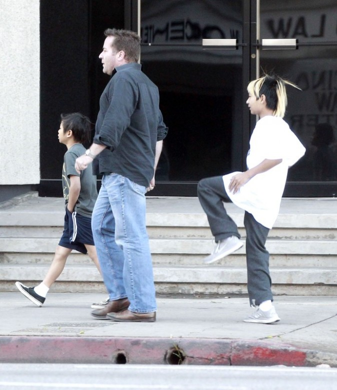 Maddox et Pax Thien le 9 mars 2013 à Los Angeles