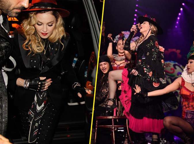 Madonna : apr�s son concert, elle continue le show dans les rues de Barcelone !