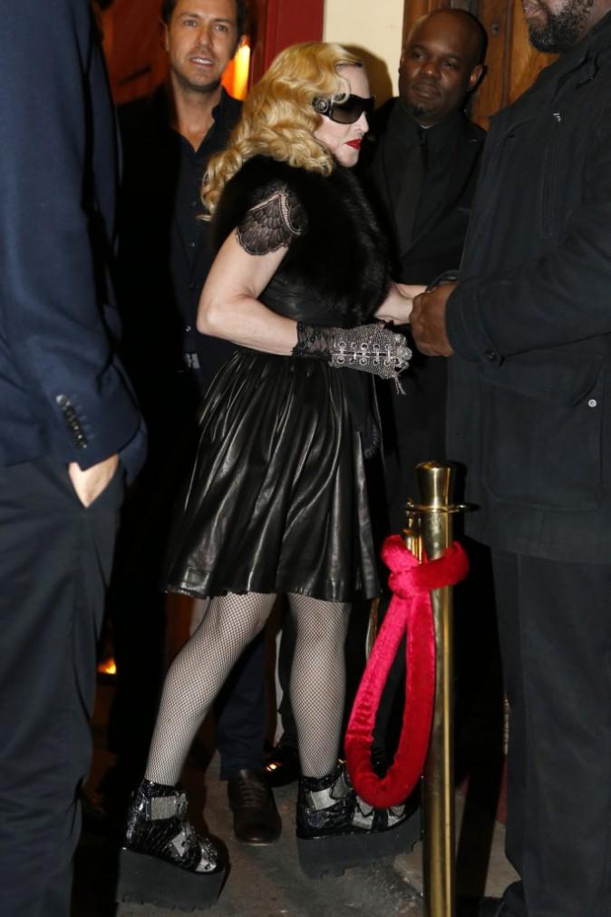 Madonna à Paris le 2 mars 2015