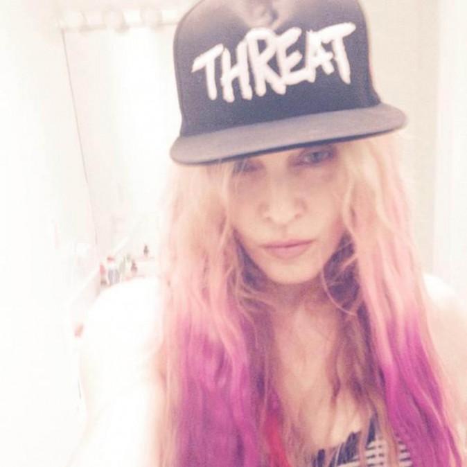 Madonna et ses cheveux roses