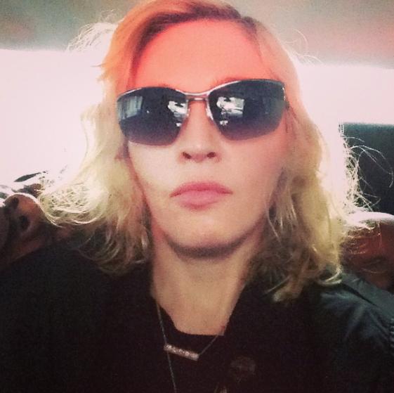 Madonna dans son jet privé