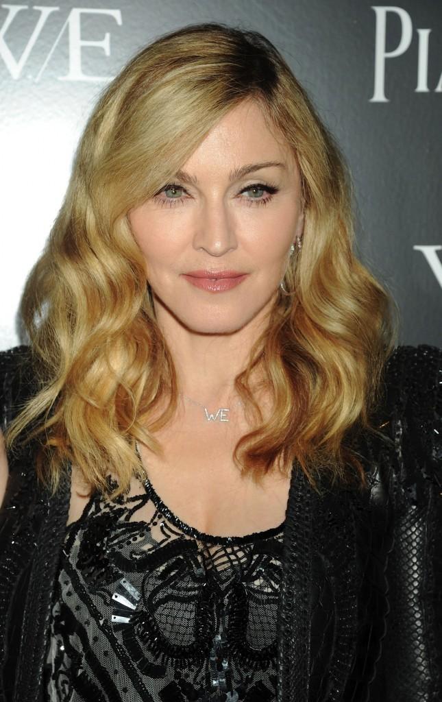 Madonna lors de la première de son film W.E à New York, le 4 décembre 2011.