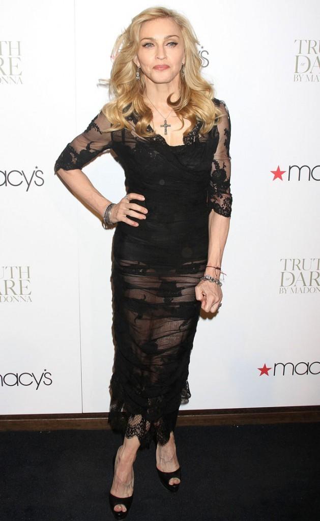 Madonna à New York pour présenter son tout premier parfum, Truth or Dare
