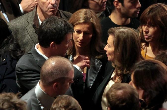 Manuel Valls et sa femme depuis 2010, Anne Gravoin avec Valérie Trierweiler