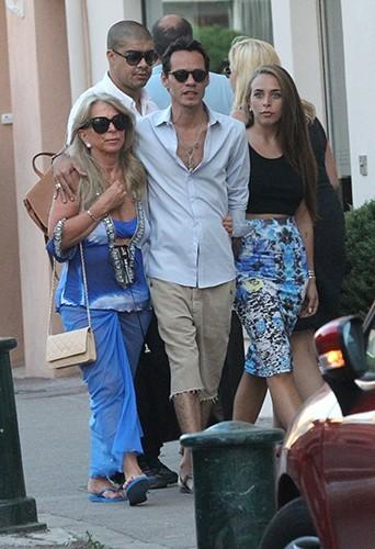 Marc Anthony et Chloe Green à Saint-Tropez le 5 juillet 2013