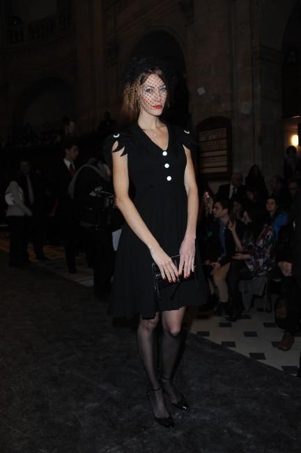Mareva Galanter lors du défilé Jean-Charles de Castelbajac à Paris, le 6 mars 2012.