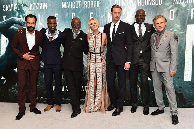 Margot Robbie : bien entourée pour la première de Tarzan, elle nous donne
