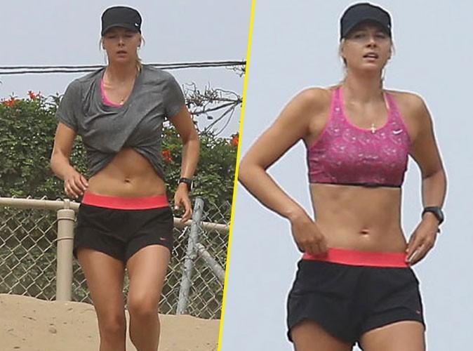 Maria Sharapova : son secret pour avoir des abdos en béton ? Courir dans le sable !