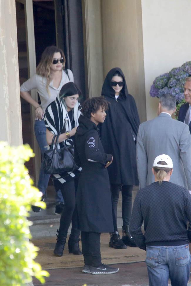 Kendall, Kylie et Khloé à Florence le 25 mai 2014