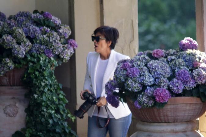 Kris Jenner à Florence le 25 mai 2014