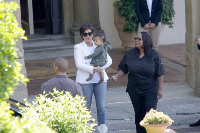 Kris Jenner et North à Florence le 25 mai 2014