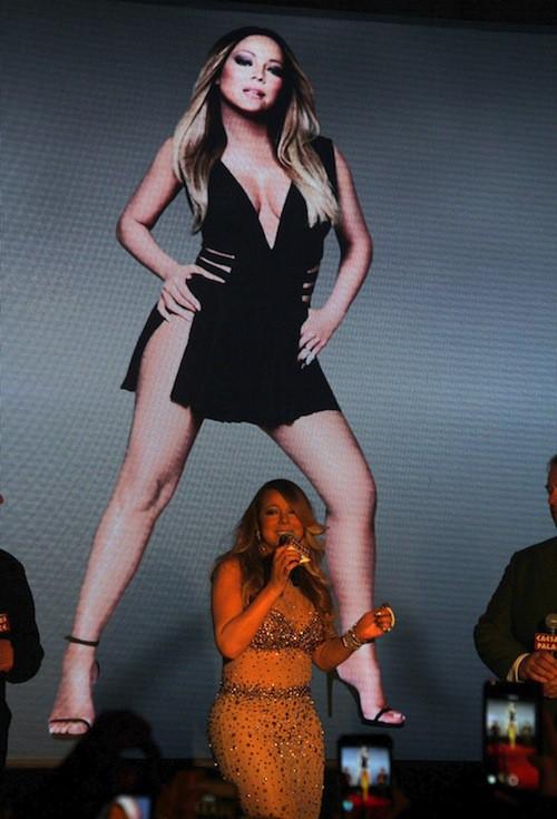 Photos : Mariah Carey accueillie en vraie diva à Las Vegas pour son show au Caesar Palace !