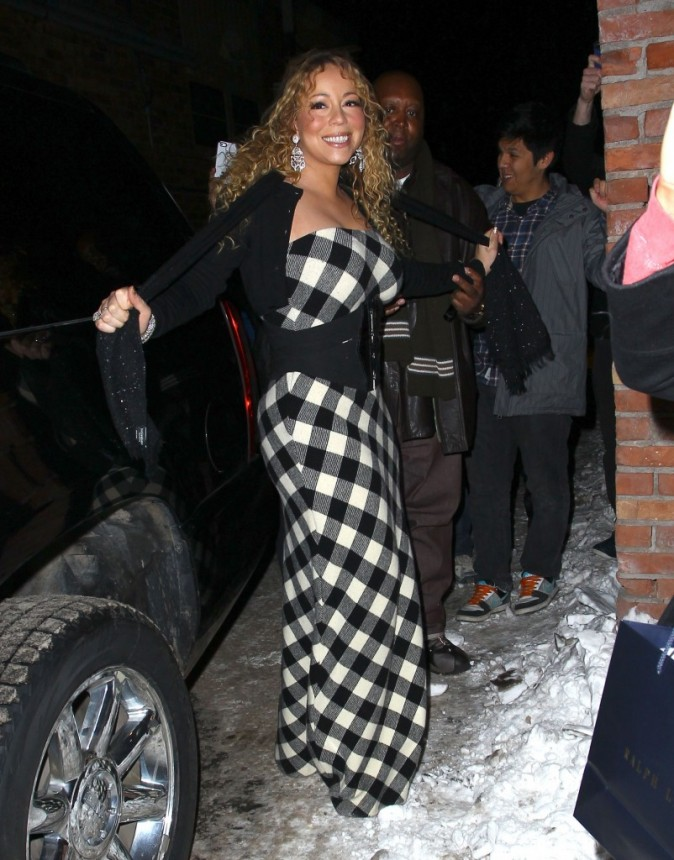 Mariah Carey à Aspen le 22 décembre 2012