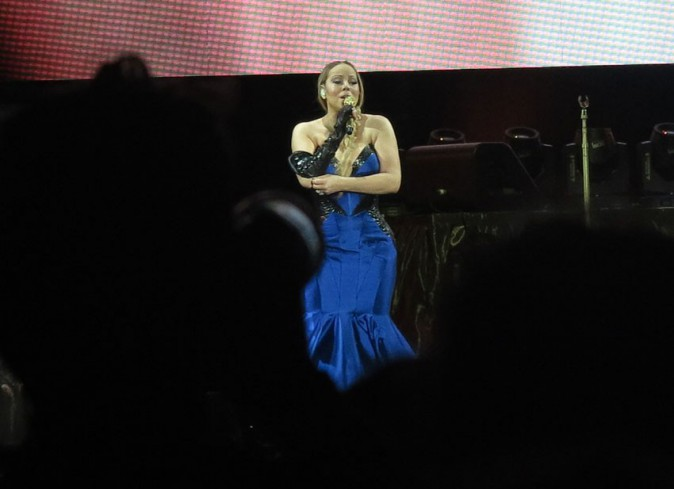 Mariah Carey en concert à Perth le 2 novembre 2014