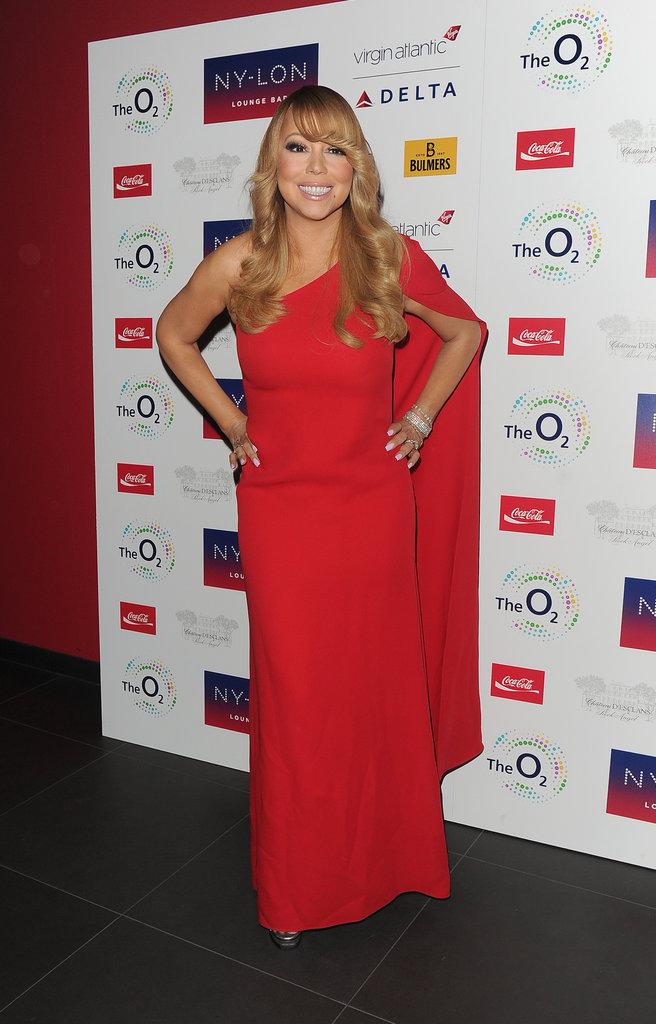 Mariah Carey s'est rendue à son after-party dans une robe rouge flamboyante