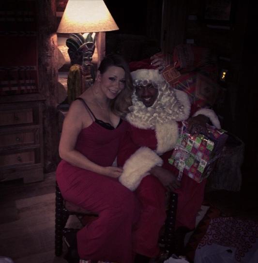 Photos : Mariah Carey : c'est son fiston Moroccan qui a joué le père Noël !