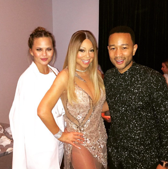 Chrissy Teigen, Mariah Carey et John Legend à Las Vegas le 18 juin 2016