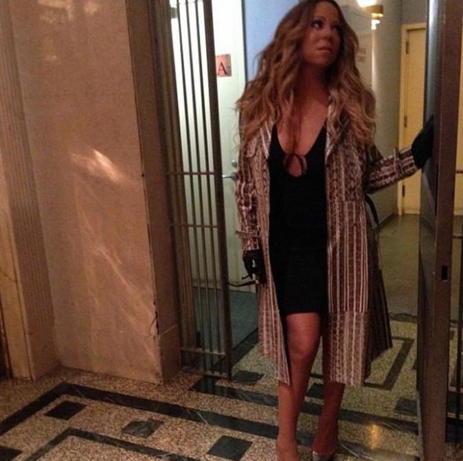 Mariah Carey à New-York le 12 novembre 2013
