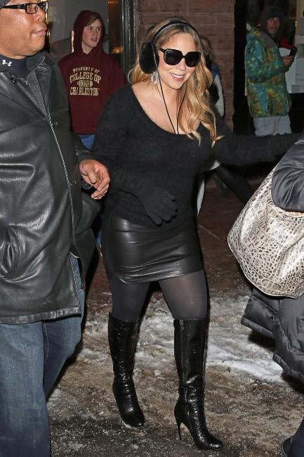 Mariah Carey en vacances à Aspen, le 23 décembre 2013.