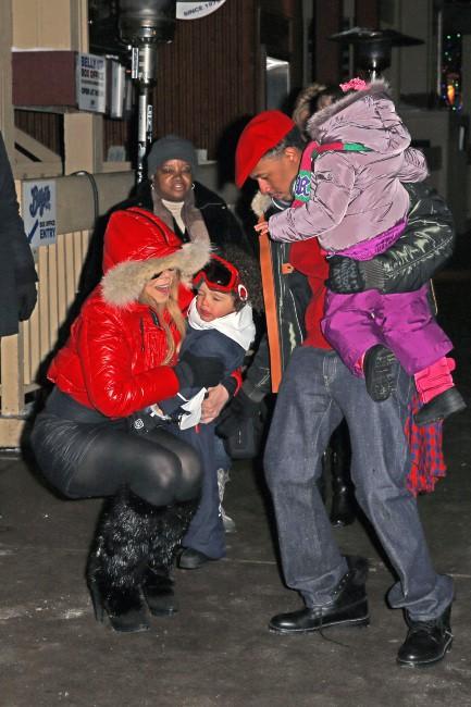 Mariah Carey en vacances en famille à Aspen, le 23 décembre 2013.