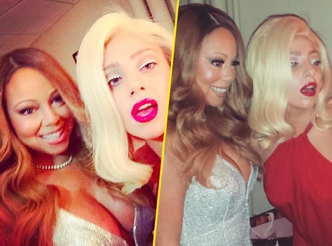 Lady Gaga et Mariah Carey le 21 décembre 2014