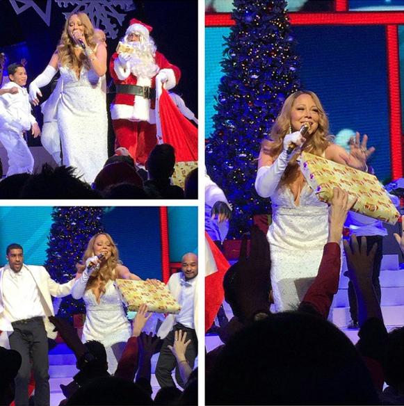 Mariah Carey le 21 décembre 2014
