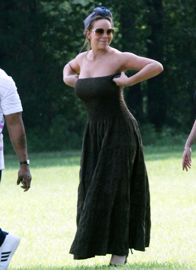 Mariah Carey le 20 août 2012 sur le tournage de The Butler, à la Nouvelle-Orléans