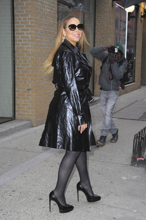 Mariah Carey à New-York le 8 avril 2015