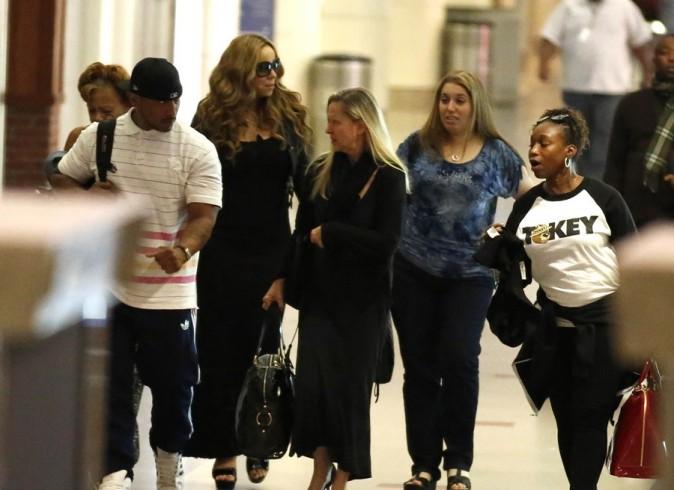 Mariah Carey à l'aéroport de Los Angeles le 6 septembre 2012