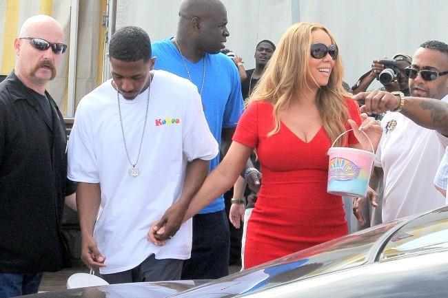 Mariah Carey et Nick Cannon, Santa Monica, 6 octobre 2012.