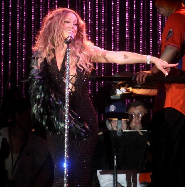 Mariah Carey en concert à Central Park, New-York, le 13 juillet 2013