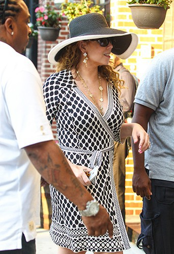 Mariah Carey à New York le 26 août 2014