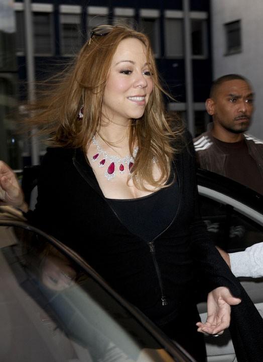 Mariah Carey parée de bijoux en Autriche !