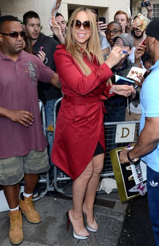 Mariah Carey à Londres le 25 juin 2012