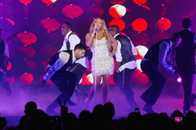 Mariah Carey le 1er janvier 2013 en Australie