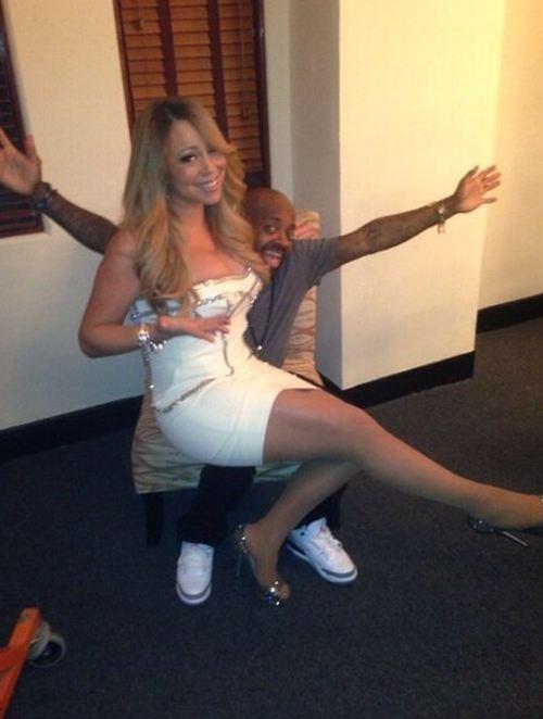 Mariah Carey, sexy dans  les coulisses du concert aux côtés de Jermaine Dupri