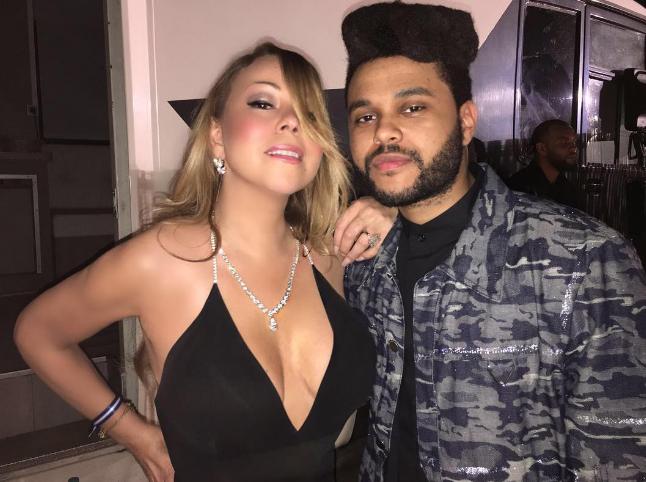 The Weeknd et Mariah Carey ont pris la pose ensemble