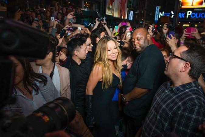 Mariah Carey en promo à New York, le 1er mai 2014.
