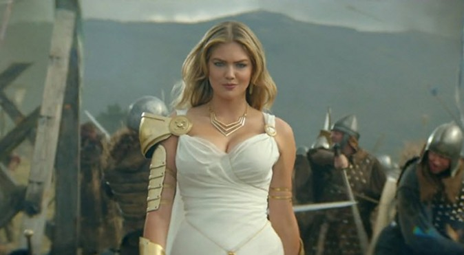 Publicité Game of War avec Kate Upton