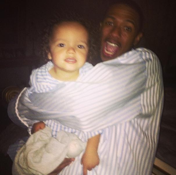 Moroccan et son papa Nick Cannon