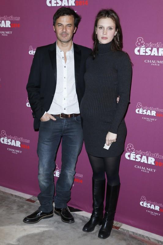 François Ozon et Marine Vacth lors du Dîner des nommés aux César, le 13 janvier 2014.