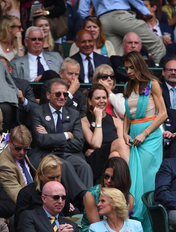 Photos : Marion Bartoli, très affaiblie, se montre à Wimbledon