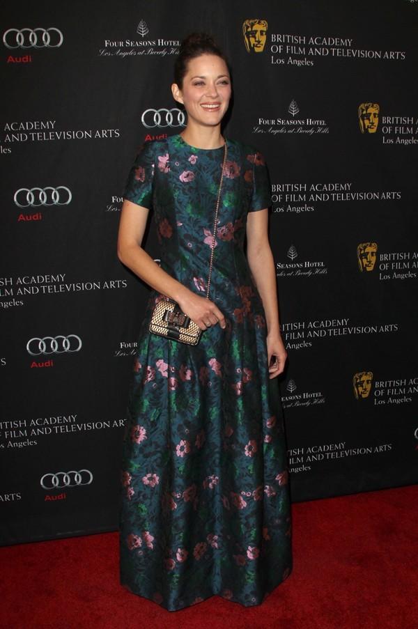 Marion Cotillard lors de la BAFTA Tea Party à Beverly Hills le 12 janvier 2013
