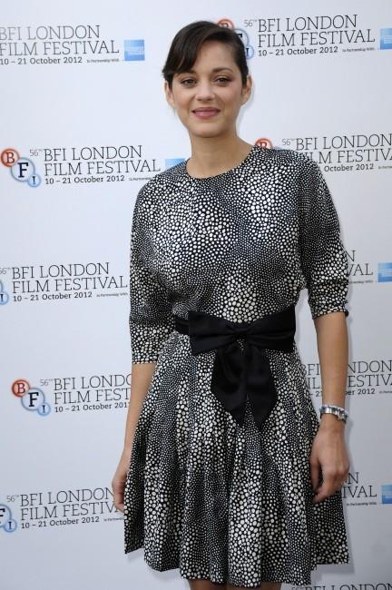 Marion Cotillard lors du Festival du Film de Londres, le 14 octobre 2012.