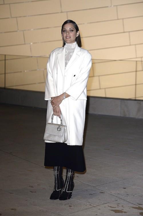 Marion Cotillard à l'inauguration de la Fondation Louis Vuitton à Paris, le 20 octobre 2014