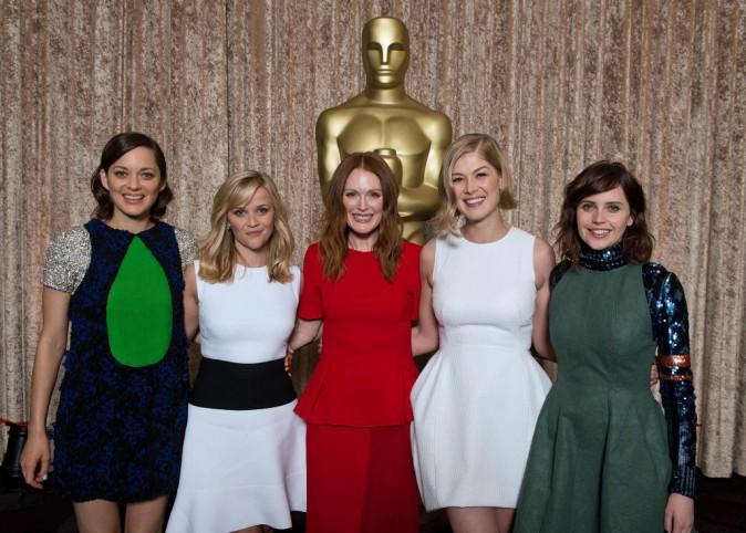 Photos : Marion Cotillard, Reese Witherspoon, Julianne Moore... : une joyeuse bande d'actrices au déjeuner des Oscars !