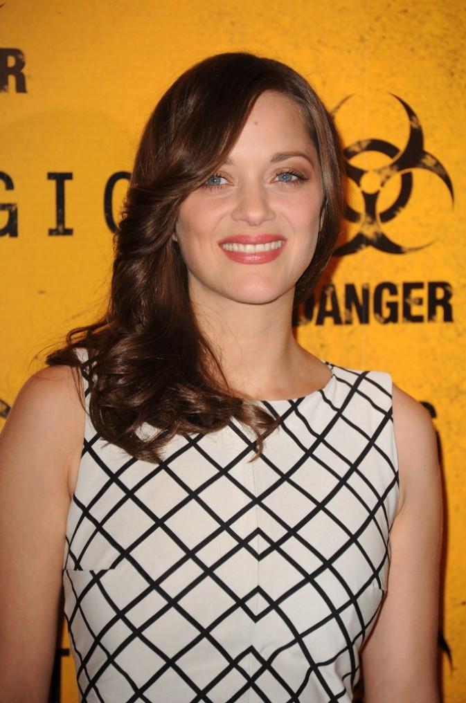 Marion Cotillard lors de la première du film Contagion à Paris, le 23 octobre 2011.