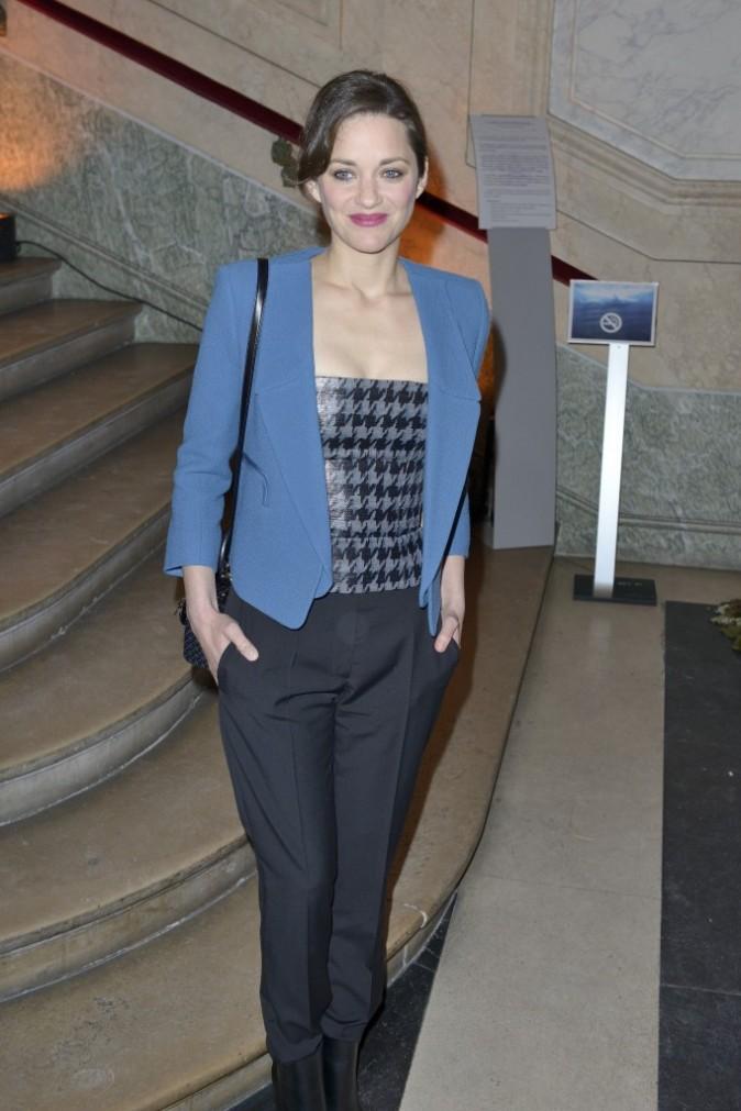 Marion Cotillard lors du gala de la fondation Maud Fontenoy à Paris, le 9 avril 2013.
